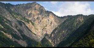 Crues torrentielles dans les Alpes