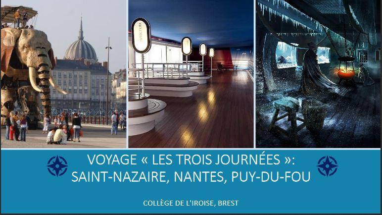 Séjour éducatif Saint-Nazaire, Nantes, Puy-du-Fou (cycle 4)