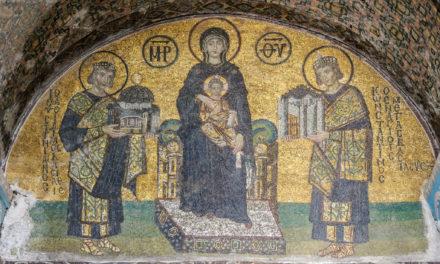Image illustrant l'article Mosaïques de l'entrée sud-ouest de Sainte-Sophie (Istanbul, Turquie) de Clio Collège