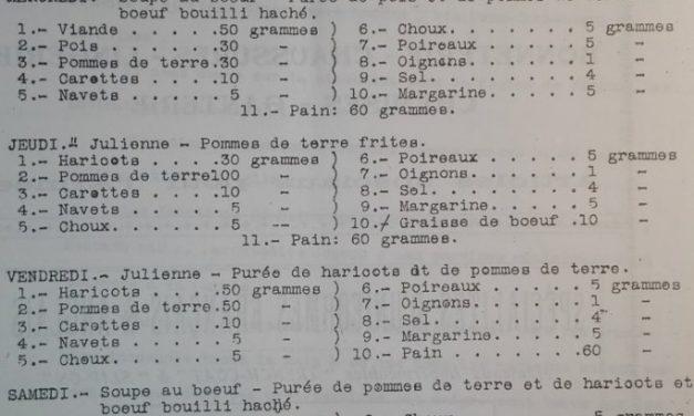 L'alimentation des enfants des maternelles d'Amiens en janvier 1918
