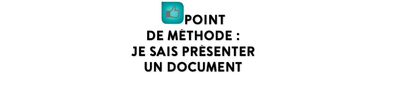 Fiche méthodologique : présenter un document (en 6e avec le chapitre 2 en Histoire, thème 1)