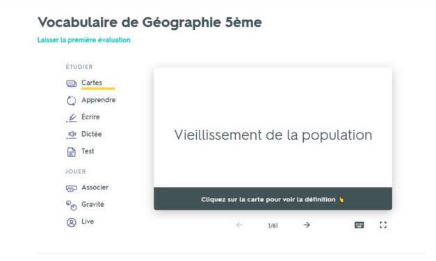 réviser des notions de géographie avec un quizz