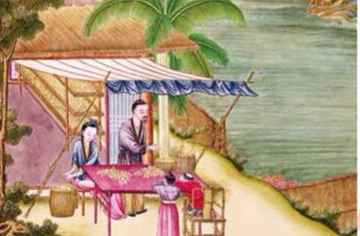Image illustrant l'article Aquarelle réalisée à partir d'une gravure de l'époque Han. de Clio Collège