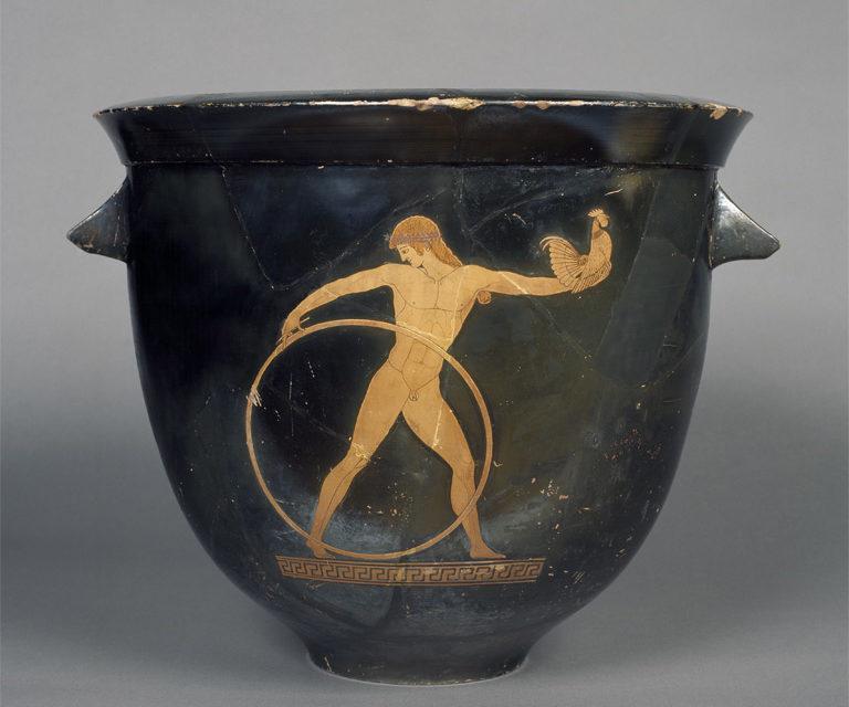 6e – Thème 2 Récits fondateurs, croyances et citoyenneté dans la Méditerranée antique – Étude d'une œuvre d'art «Un vase cratère représentant Zeus et Ganymède»