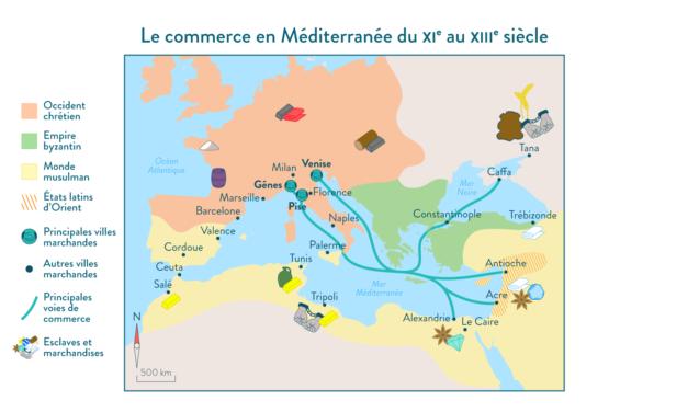 Chrétientés et Islam ( VI-XIIIe siècles) des mondes en contact- classe de 5ème