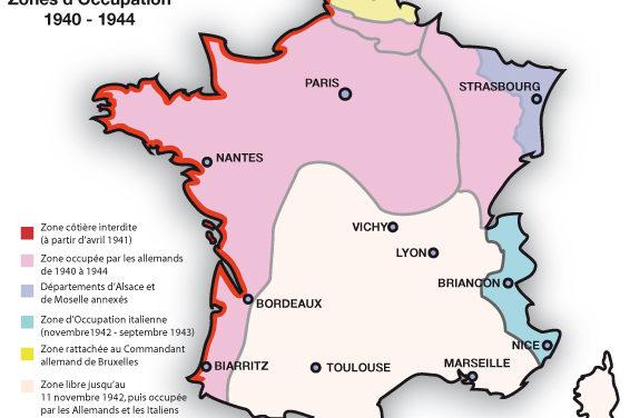 La France défaite et Occupée. Régime de Vichy, collaboration, Résistance.