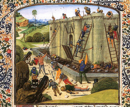 Siège du château de Brest.