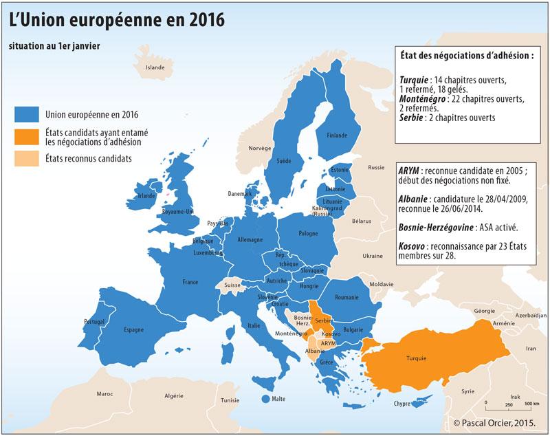3e   La construction européenne jusqu'au début des années 2000