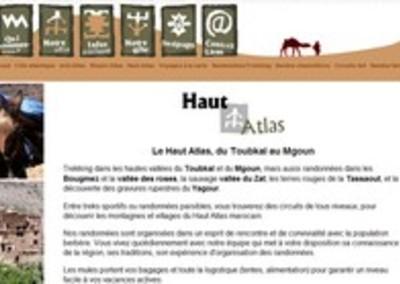 Un site dédié au tourisme dans l'Atlas